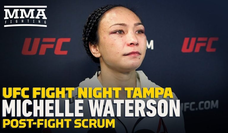 UFC Tampa: Michelle Waterson Fights Back Tears After Loss to Joanna Jedrzejczyk — MMA Fighting